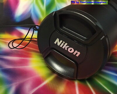 Nikon Snap-On Lens Cap Directly To Camera Nikon Coolpix P900 P 900 +Holder, New!