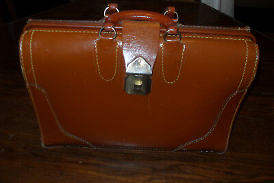 Vintage TOP GRAIN COWHIDE Leather Bag - Doctors Lawyers Suitcase-Briefcase