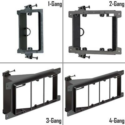 1/2/3/4 Gang Screw-On Low Voltage Mounting Bracket Wall Plate New Work Arlington