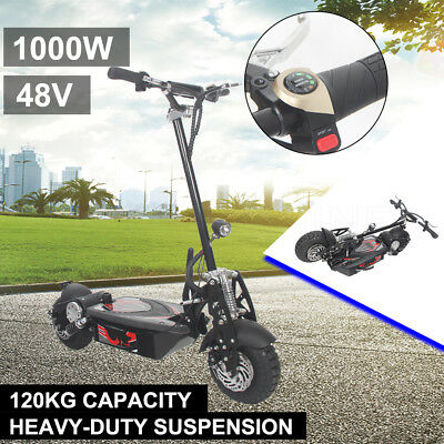 Electric Scooter 48V Foldable Height Adjust Turbo w/ LED for Adult/Child 1000W