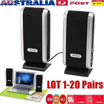 Hy-218 Multimedia Stereo Usb Speakers System For Laptop Desktop Pc Computer Lot