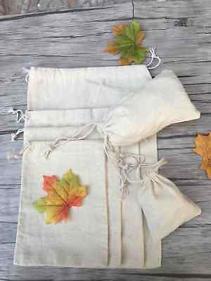 Wedding Favors Reusable Cotton Fabric Jewelry Drawstring Gift Tote Bags Pouch