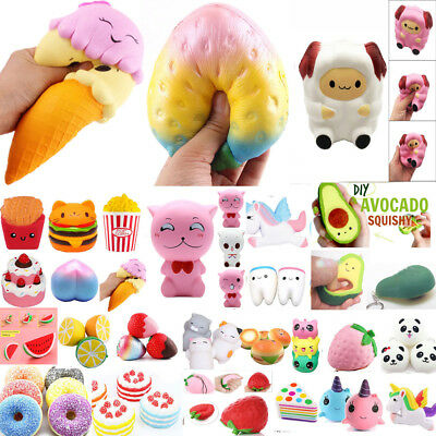 Lot Jumbo Slow Rising Squishes Scented Squishy Squeeze Toy Stress Reliever Gift