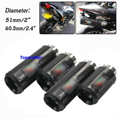 51mm/61mm Universal Motorcycle Carbon Exhaust Muffler Pipe W/DB Killer Silencer
