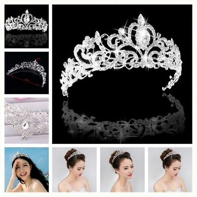Rhinestone Kids Girl Crystal Tiara Hair Band Bridal Princess Prom Crown Headband