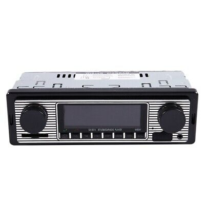 Bluetooth Vintage Car Radio MP3 Player Stereo USB AUX Classic Car Stereo Audio O
