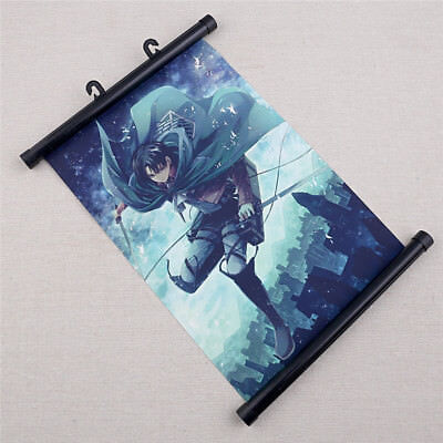 Attack on Titan Wall Poster Anime Scroll Reel Home Painting Hanging Art Decor
