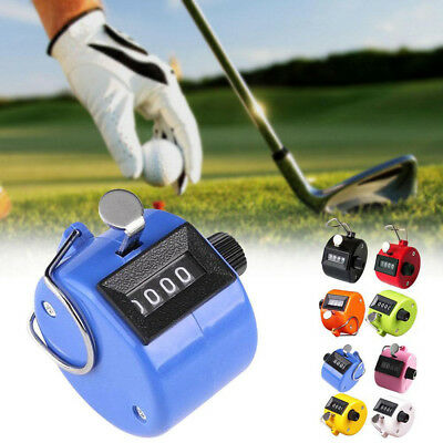 Portable 4 Digit Number Clicker Accurate Hand Held Tally Clicker Golf Stroke