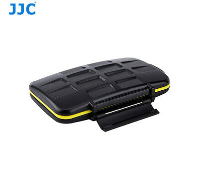 JJC MC-MSD16 Water-Resistant Tough Memory Card Case for fits 16 Micro SD cards