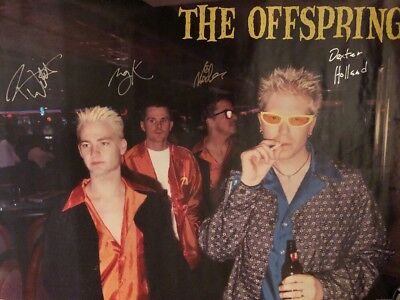 The Offspring Poster Signed By 4 Members Dexter Holland Noodles