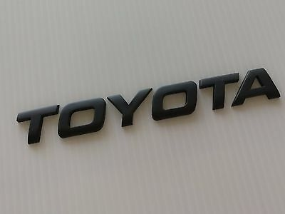 Toyota Matt Black/chrome 3D Emblem Badge Letter Alphabet Logo Car Truck