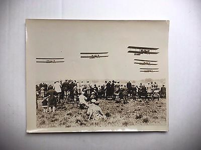 Original 1920's Wire Photo Of The Royal Air Force  Pageant At Hendon England