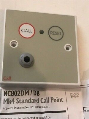 Tc393 - C-Tec Nc802 Dm/db Standard Call Point (Button Reset With Remote Socket)