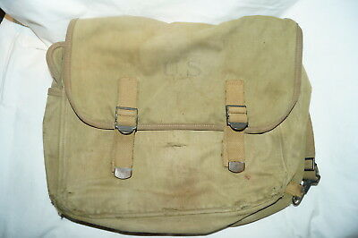WW2 US Army Musette Bag 1940 Dated
