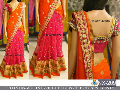 Wedding Georgette Saree Partywear desiner Indian bollywood Pakistani Culture sar
