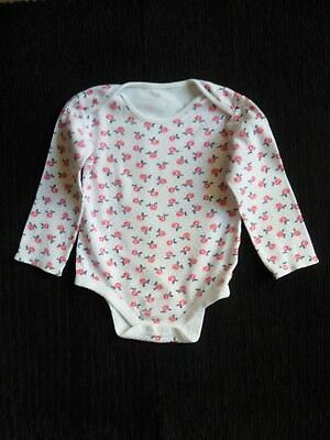 Baby clothes GIRL 18-24m bodysuit/top long sleev white floral pink/navy SEE SHOP