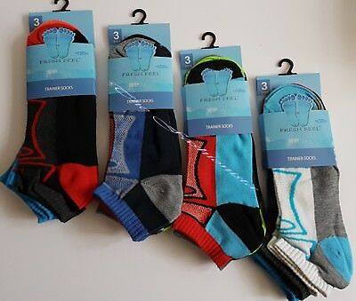 6 Pairs Men's Trainer Socks Funky Designs Adults Liner Ankle Sports Socks 6-11