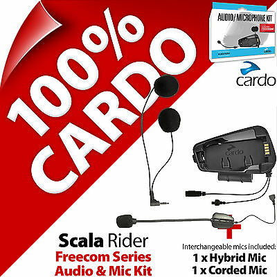 Cardo Scala Rider Audio & Mic Kit for Freecom 1 2 3 4 Helmet Intercom Microphone