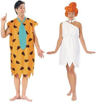 Couples The Flintstones Fred and Wilma Adult Costume Stone Age Halloween