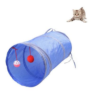 Toys With Scratching Ball Nylon Collapsible Cat Play Tunnel Long Pet Tunnel