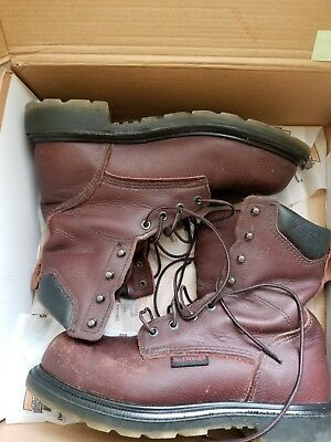 d76c4d9cfd7 RED WING 2408 men's used steel toe 8 inch work boots size 7.5D made in USA.