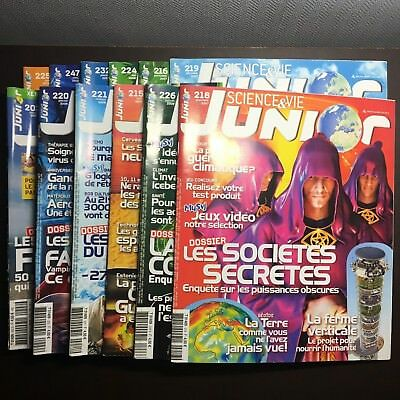 Lot de 13 Magazine SCIENCE&VIE JUNIOR