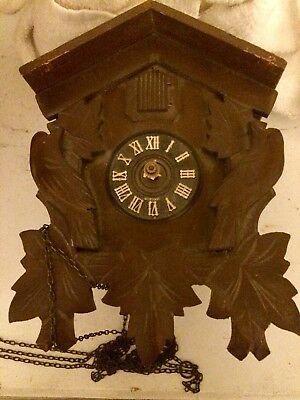 Vintage Black Forest German Wooden Cuckoo Clock  Parts for Repair