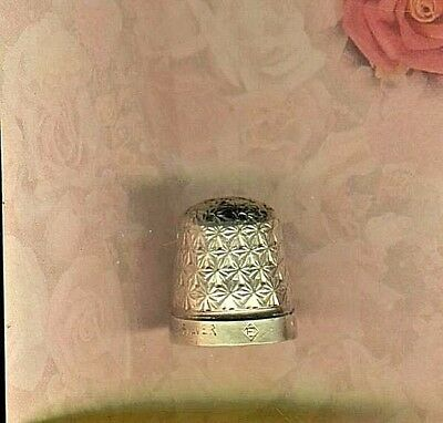 NICE Pretty Sterling Thimble American Size 7