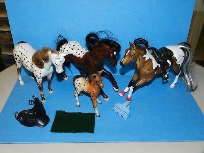 Horses Grand Champions NMT Breyer Reeves APPALOOSAS PINTO saddles head nodders