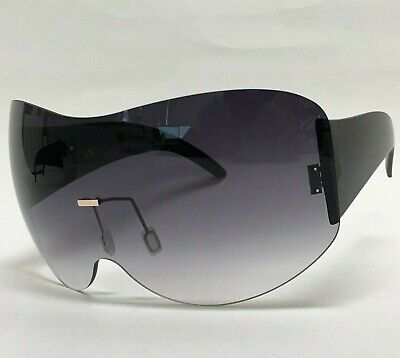 Oversized Big Large Exaggerated Vintage Retro Shield Xl Visor Style Sunglasses