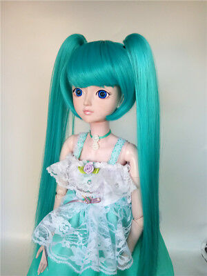 "1/6 Girl BJD SD Doll Wig Dollfie 6"" DZ DOD LUTS Double Tail Tiger Clip GCH003"