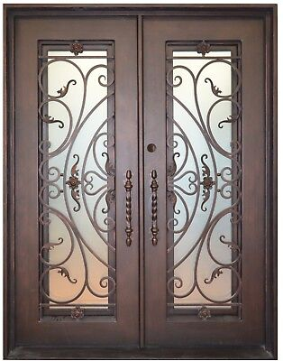 Milan Wrought Iron Entry Door with Choice of Operable Glass