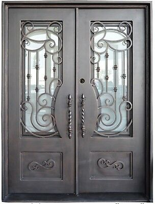 Siena Wrought Iron Entry Door with Choice of Operable Glass
