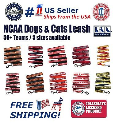 Pets First NCAA Leash for Dogs - Officially Licensed - 50+ Teams - 3 Sizes.