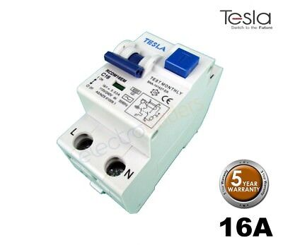 Tesla 16 Amp RCD/MCB Safety Switch 6kA Electromagnetic Double Module