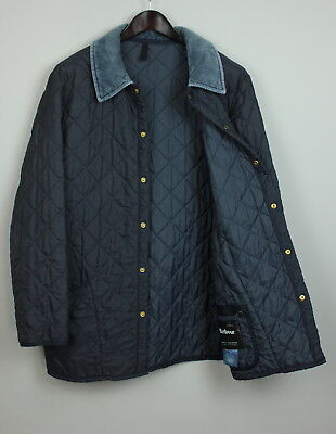 BARBOUR LIDDESDALE Men's ~XL* Quilted Dark Blue Nylon Shell Jacket RCS2424