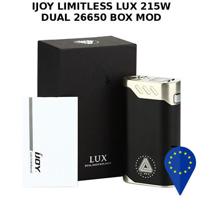 Ijoy Limitless Lux 215W Dual 26650/18650 Box Mod Oled Screen Black