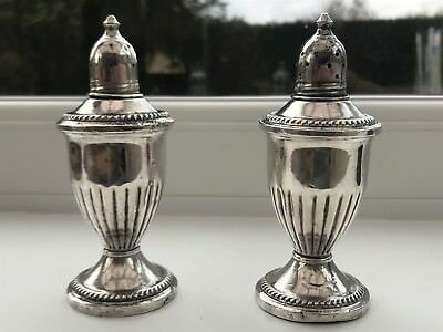 Weighted Silver salt and pepper pot