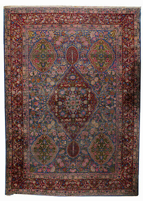 Hand made antique Persian Yazd rug 9.8' x 13.5' ( 298cm x 411cm ) 1910s 1B494