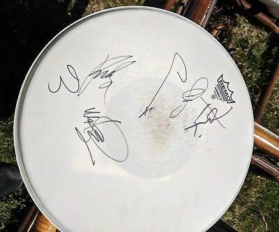 Chester Bennington +5 Linkin Park Band Signed Autographed Concert USED Drumhead
