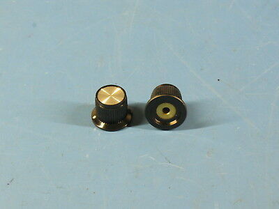 """2 High Quality ALCO Solid Aluminum Knobs for Radios & Equipment .125"""" Shafts"""