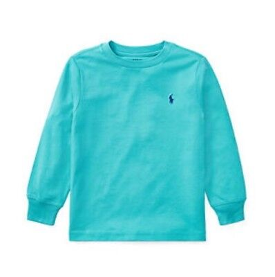 Nwt Ralph Lauren Cotton Long Sleeve Teal Tee Boys Toddlers Size 2/2T Msrp $19.50
