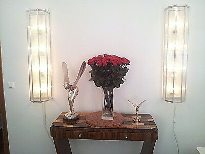 ART DECO BAUHAUS, FRENCH WALL LAMPS SET, CLASSIC OCTAGON DESIGN,40in x 8in !!!