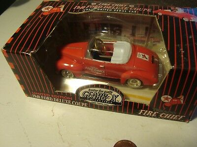Texaco Fire Chief 1997 Gearbox Convertible Red 1940 Ford Coupe Pedal Toy Car