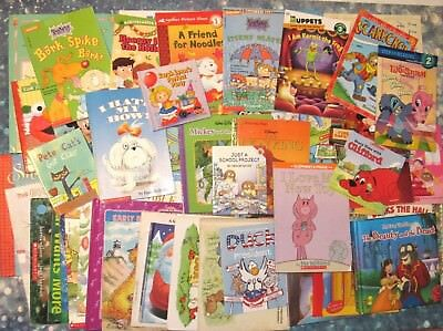 Huge Lot Of 53 Children S Books Disney Sesame Street Rugrats Clroom Library