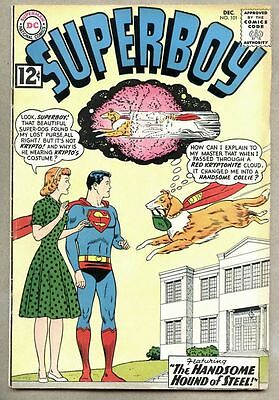Superboy #101-1962 fn Krypto becomes a collie / Curt Swan
