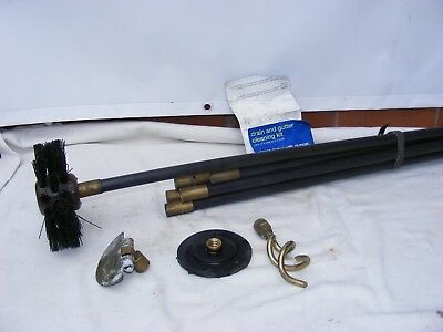 DRAIN CLEANING RODS And Tools Drain And Gutter Cleaning Kit With 8 Rods 3  Tools