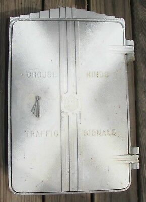 Crouse Hinds Art Deco Cast Aluminum Cabinet Traffic Signal Light (C)