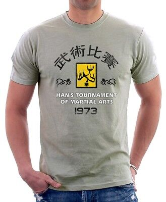 Enter The Dragon Bruce Lee Hans Tournament 1973 printed t-shirt 9138
