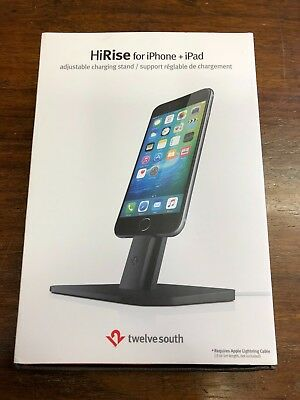 Twelve South HiRise for iPhone/iPad Mini, Adjustable Charging Stand , Black